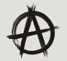 Circle-A Anarchy Symbol (light t-shirt version) by Lyubomir Gizdov