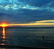 Sunset at La Ensenada by Marino Holguin