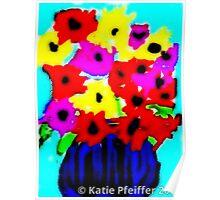 April Flowers Bouquet Poster