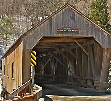 The Union Village Covered Bridge 1 by Carolyn Clark
