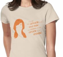 It's the ginger on the inside that counts! Womens Fitted T-Shirt