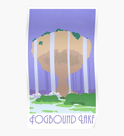 Fogbound Lake - Pokemon Mystery Dungeon Poster