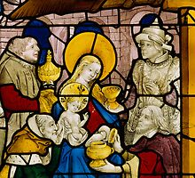 Window depicting the Adoration of the Kings by Bridgeman Art Library