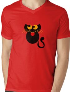 Cute Cat Tee Shirt Mens V-Neck T-Shirt