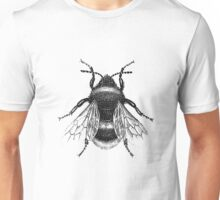 Black Bumblebee Illustration Unisex T-Shirt