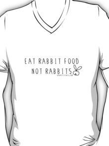 Eat rabbit FOOD not rabbits! Vegetarian vegan shirt T-Shirt