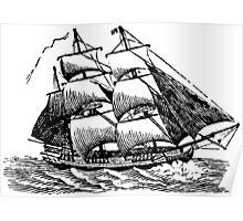 Classic Sailing Ship 01 Poster