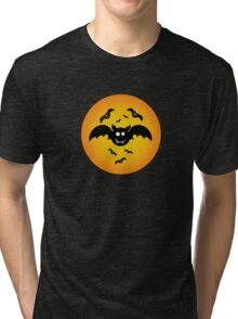 Cute Illustrated Tee Shirt with Bats Tri-blend T-Shirt
