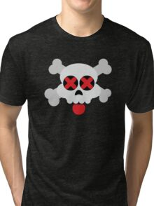 Cute Skull with Tongue Tri-blend T-Shirt