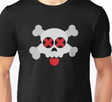 Cute Skull with Tongue Unisex T-Shirt