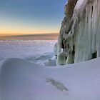 Sunset Drift - Lake Superior by Michael Treloar
