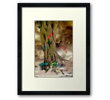 Magic Trees and Butterfly Leaves Framed Print