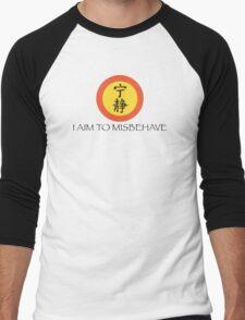 Aim to Misbehave Men's Baseball ¾ T-Shirt