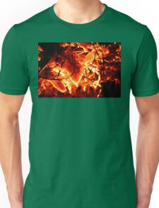 Flaming Leaves Unisex T-Shirt