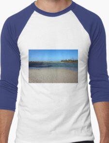 Tranquil Blue Men's Baseball ¾ T-Shirt