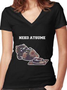 Big ol fat cat Women's Fitted V-Neck T-Shirt