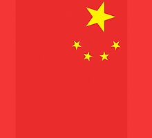 CHINESE Flag Pure & simple; portrait; People's Republic of China, by TOM HILL - Designer