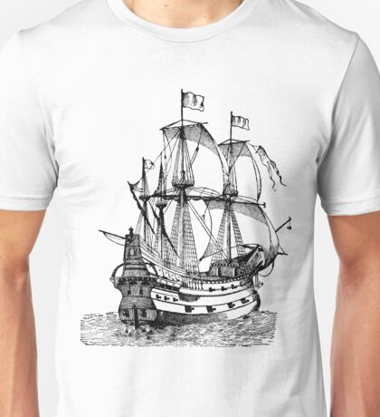 Classic Sailing Ship 02 Unisex T-Shirt