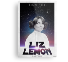 Liz Lemon is a princess ! Metal Print