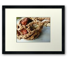 Crocheted Decayed Pepper  Framed Print