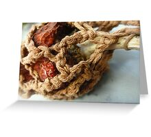 Crocheted Decayed Pepper  Greeting Card