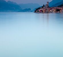 Night Falls #1, Malcesine Italy by Cherrybom