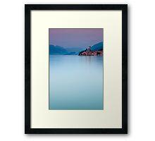 Night Falls #1, Malcesine Italy Framed Print