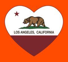 Los Angeles California Love Heart  Kids Clothes