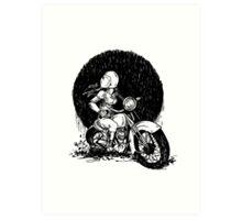 Women Who Ride- We like Dirt and We got Titties Art Print