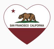 San Francisco California  Love Heart  Kids Tee