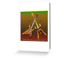 Dream Heavy and Death Metal Guitars Greeting Card
