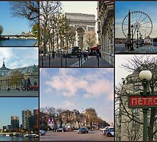 Paris Collage by Lynn Bolt