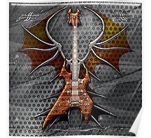 Death Metal Guitar Poster