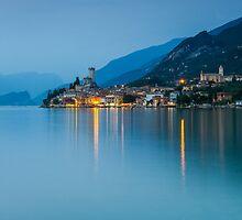 Night Falls #2, Malcesine Italy by Cherrybom