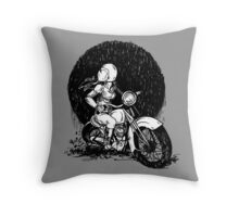Women Who Ride- We like Dirt and We got Titties Throw Pillow