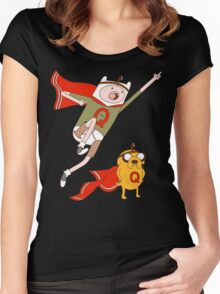 Adventures With Quailman - As Seen on Ript! Women's Fitted Scoop T-Shirt