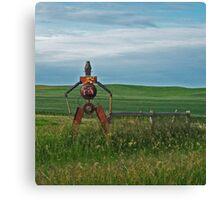 Tin Man on the Prairie Canvas Print