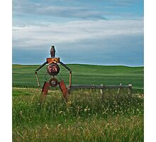Tin Man on the Prairie Photographic Print