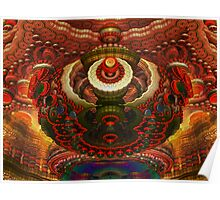 Push Button Fractal Overhead Projector Poster