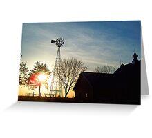 Silhouetted Minnesota Farm Greeting Card