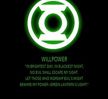 Green Lantern Corps oath by Raccoon-god