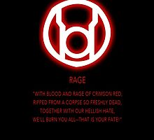 Red Lantern Corps oath by Raccoon-god