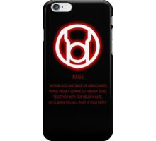 Red Lantern Corps oath iPhone Case/Skin