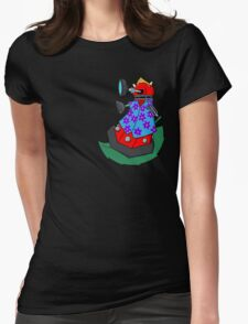 Dalek on the wind Womens Fitted T-Shirt