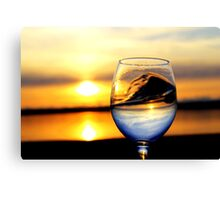 Sunset inside Goblet Canvas Print