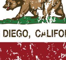 San Diego California  Love Heart Distressed Sticker