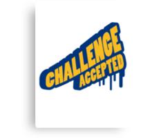 Graffiti Design Challenge Accepted Canvas Print
