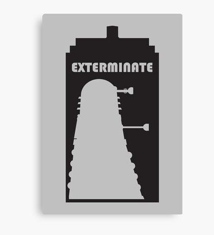 Dalek within Tardis Canvas Print