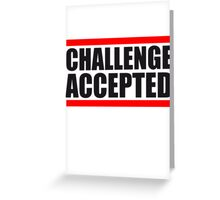 Cool Challenge Accepted Text Logo Greeting Card