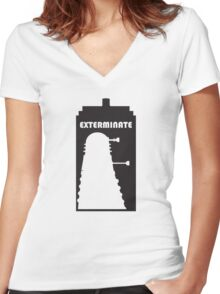 Dalek within Tardis Women's Fitted V-Neck T-Shirt